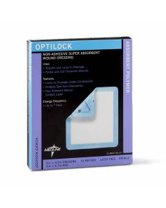 OptiLock Nonadhesive Super Absorbent Wound Dressings