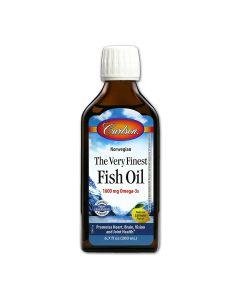 Omega-3 Fish Oil, 1600 mg / mL, Lemon Flavor, 200 mL Liquid Bottle