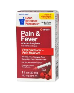 Good Neighborhood Pharmacy Pediatric Pain and Fever Relief Acetaminophen Liquid, 1oz