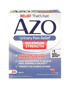 AZO Urinary Pain Relief Tablets, Maximum Strength