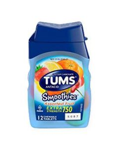 TUMS Smoothies Antacid Tablets 12Ct