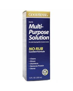 GoodSense Sterile Multipurpose No Rub Contact Lens Solution, 12oz