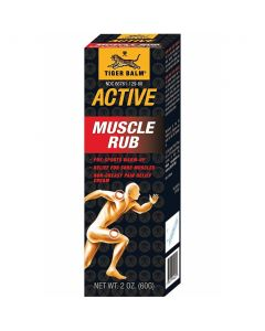 Tiger Balm Active Sore Muscle Rub Cream, 2oz