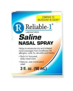 Reliable-1 Saline Nasal Spray, 3oz Bottle