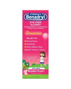 Children's Benadryl Dye-Free Allergy Liquid, 4oz