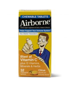 Airborne Chewable Tablet, Citrus, 32/Box