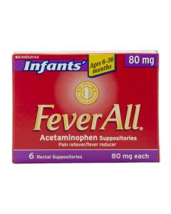Infants' FeverAll Acetaminophen Suppositories 80mg