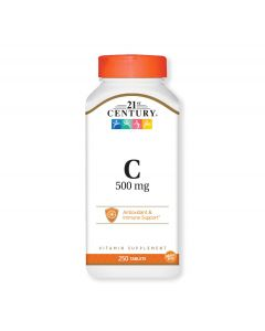 21st Century Vitamin C Tablets, 500mg, Bottle of 250 Tablets