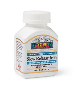 21st Century High Potency Iron 45mg, Slow Release, 60 Tablets