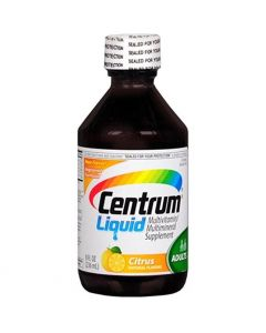 Centrum Multivitamin Multimineral Liquid Supplement, Citrus, 8 oz. Bottle
