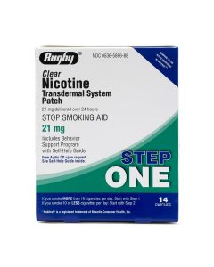Rugby Nicotine Stop Smoking Patch Step One 21mg 14Ct OTC589688 by Medline