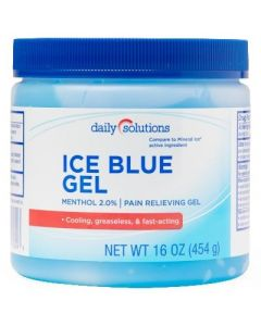 Ice Blue Menthol 2% Pain Gel 16oz. 1Ct OTC708293 by Daily Solutions