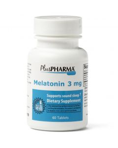 PlusPharma Melatonin Sleep Aid 3mg 60Ct