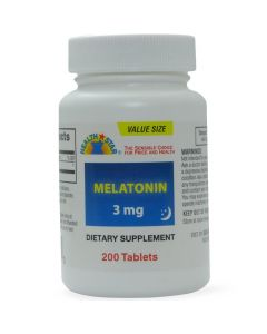 Health Star Melatonin Sleep Aid 3mg 200Ct