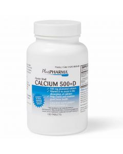 Oyster Shell Calcium Plus Vitamin D3 Tablet 120Ct
