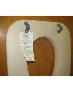 Padded Foam Commode Seat with Hardware for Commodes G98202 and G98204