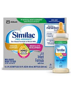 Similac Pro-Advance Infant Formula with 2'-FL Human Milk Oligosaccharide (HMO) for Immune Support, Ready to Drink 2 fl oz Bottles