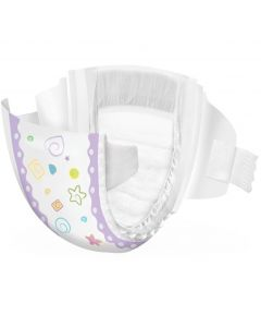 Medline Premium Quality Disposable Baby Diapers, Sizes N-7