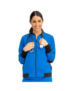 Women's Bomber Jacket with Welt Pocket and Zipper - Shop All