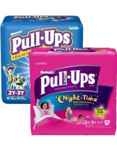 Huggies Pull-Ups Training Pants, Boys or Girls Fit, Sizes 2T - 5T