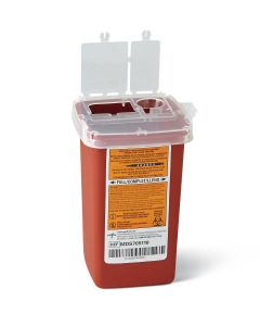Medline Sharps Biohazard Needle Container 1Qt 1Ct MDS705110H by Medline