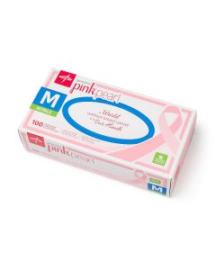 Generation Pink Pearl Powder-Free Nitrile Exam Gloves, Size M, Box of 100