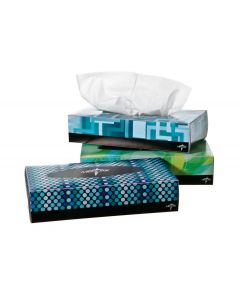 Premium Paper Facial Tissues, 100 Sheets per Box, 1Each