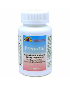 Prenatal Multivitamin and Mineral Tablets 100Ct OTC057501 by Medline