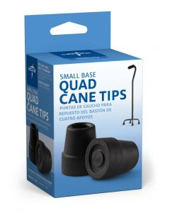 Medline Replacement Tips for 1/2in Small Quad Cane 4Ct