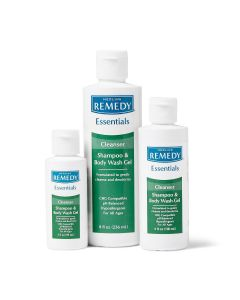 Remedy Essentials Shampoo and Body Skin Care Cleanse Wash Gel, Various Sizes