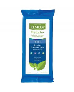 Remedy Phytoplex Barrier Skin Care Guard ProtectantCream Cloths (Wet Wipes) with Dimethicone, Light Fragrance, Case of 32 8-Packs