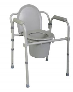 Replacement Medline Commode Seat with Lid 1Ct
