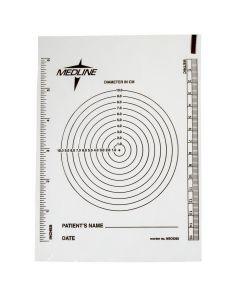 Medline Bullseye Plastic Wound Ruler 10Ct