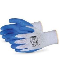 10 Gauge Dexterity General Purpose Latex Dip Knit Industrial Gloves, Gray, Sizes S - XL, 12 Pairs