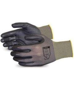 13 Gauge Dexterity General Purpose Nitrile Dip Industrial Gloves, Gray, Sizes S - 2XL, 12 Pairs