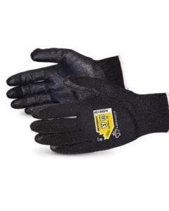 13 Gauge Dexterity Cut Level A2 Nitrile Palm Industrial Gloves, Black, Sizes S - 2XL, One Pair