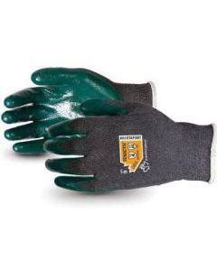 18 Gauge TenActiv Cut Level A4 Nitrile Dip Industrial Gloves, Gray, Sizes S - XL, One Pair