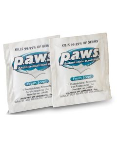 Paws Antimicrobial Towelettes, Case of 10 Boxes (100 Count)