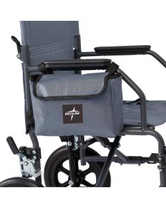 Medline Transport Chair Side Bag Accessory Gray 1Ct