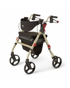 Medline Empower Rollator with 8in Wheels Champagne 1Ct