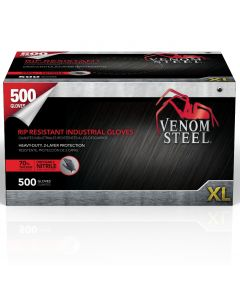 Venom PF Nitrile Steel Industrial Gloves, Size XL