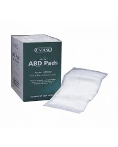 """Medline Caring Sterile Abdominal Pad 5""""x9"""" 400 Count"""