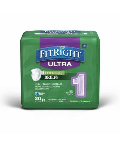 Medline FitRight Ultra Stretch Disp Brief M/Reg 80Ct