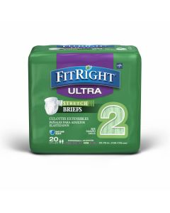 Medline FitRight Ultra Stretch Disp Brief L/XL 80Ct