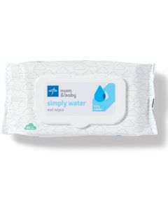 simply water Wipes, 99% Water Solution Wipes, 100% Plant-Based Bamboo Fiber Cloth, 1 Case (12 Packs of 60 Count)