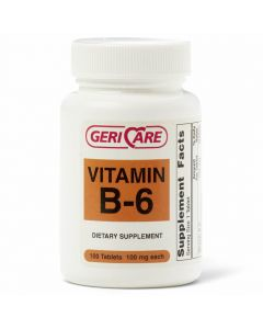 Vitamin B-6 Dietary Supplement, 100mg, 100 Tablets