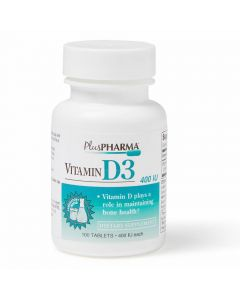 Vitamin D3 Tablets, 400 IU, Bottle of 100 Tablets