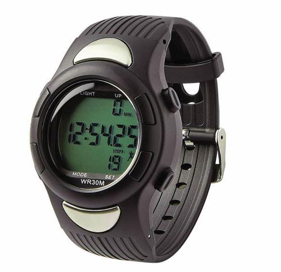 Medline Heart Rate Monitor Pedometer Watch MDSP3044 by Medline